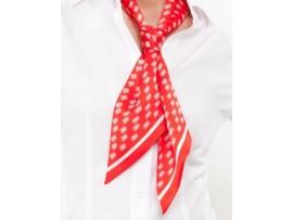 ШАРФ-галстук женский, иск.шелк с полноцветной печатью