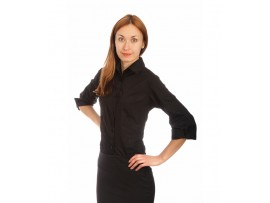 Рубашка черная жен