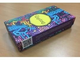 Коробка с полноцветной печатью, 9х6 см